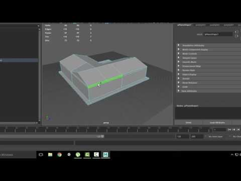 How to make a low poly simple house in Maya 2017 (1)