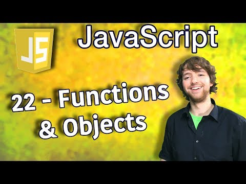 JavaScript Programming Tutorial 22 - Functions and Objects