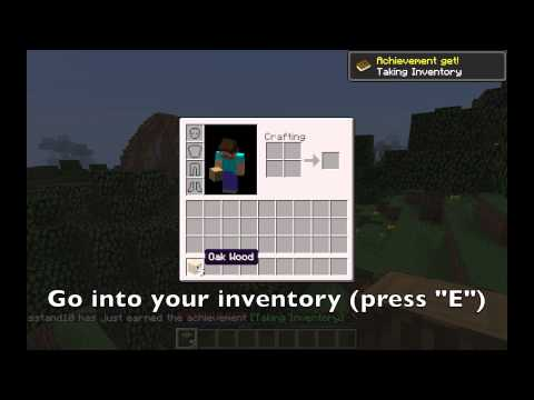 Minecraft Basics - How to make a crafting bench