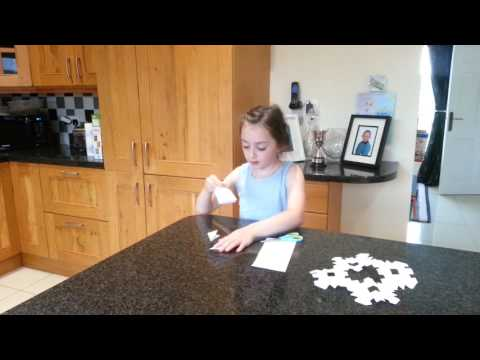 How to make a paper snowflake for kids