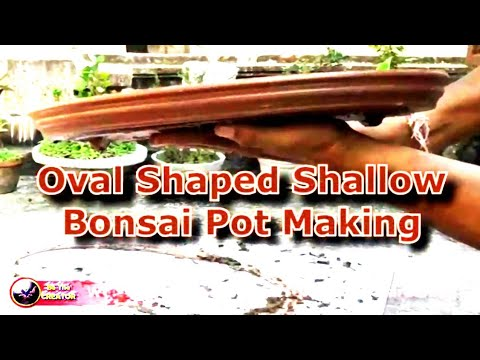 Oval shaped shallow Bonsai pot making with Polystyrene mold, Be the Creator, Mar-18. Diy Bonsai pot