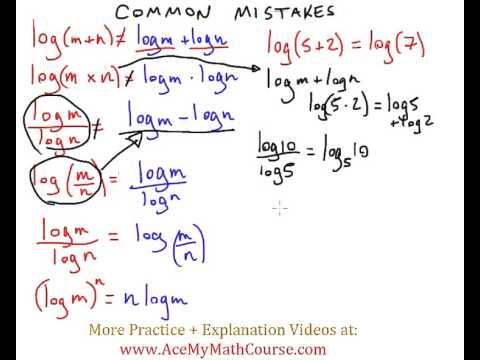 Logarithms - Common Mistakes! (Algebra)