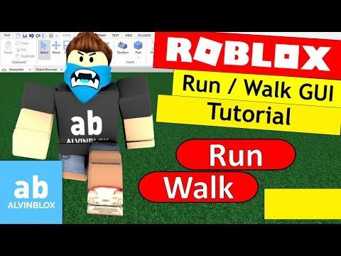 How To Make A Run / Walk GUI On Roblox - Basic Walkspeed