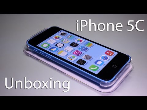iPhone 5C Unboxing - First Look at Blue iPhone 5C - Apple iPhone 5c Unboxing