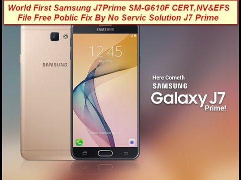 World First Samsung J7Prime SM-G610F CERT,NV&EFS File Free Poblic