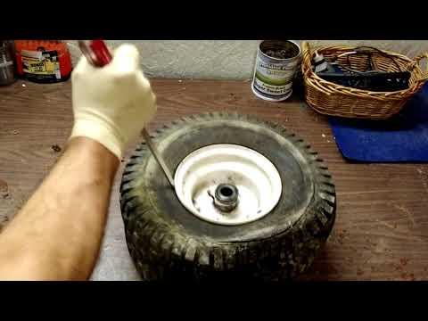 Installing Inner Tubes On Your Riding Mower Tires.