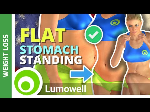 15 Minute ABS Workout. Standing Flat Stomach to Burn Belly Fat