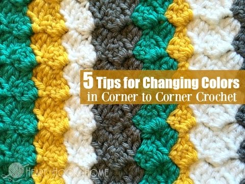 5 Tips for Changing Colors in Corner to Corner Crochet