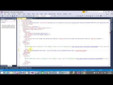 How to customize CreateUserWizard in Visual Studio 2013