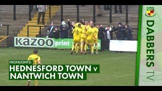 HIGHLIGHTS | Hednesford Town 4-4 Nantwich Town