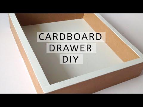 DIY - how to make a cardboard drawer (2) (corrugated cardboard furniture) HD