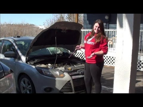 2012 Ford Focus Spark Plug Replacement With My Girlfriend!