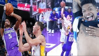 OMFG LONZO BEST DUNK ALL YEAR!!! LAKERS vs KINGS HIGHLIGHTS REACTION