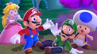 Super Mario 3D World - Full Game Co-op Walkthrough (All Green Stars & Stamps)
