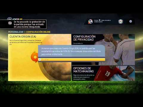 FIFA 15 - Problema PS4 Multiplayer * cuenta origin