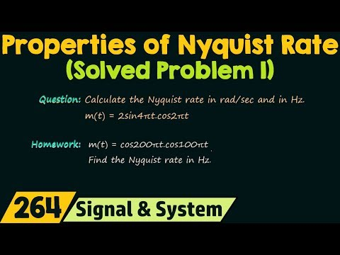Nyquist Rate (Solved Problem 1)