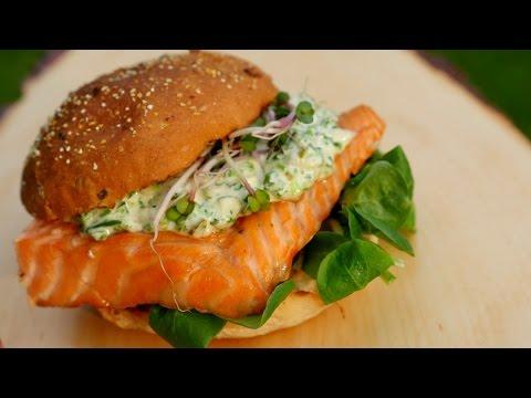 Limoncello salmon sandwich