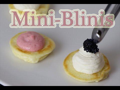 Mini Blinis- Der perfekte Cocktail Snack
