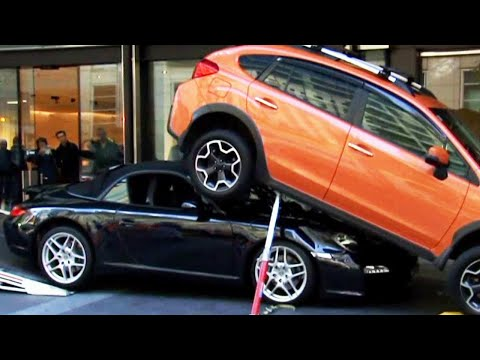 World's Worst Valet Driver Parks Porsche Underneath SUV