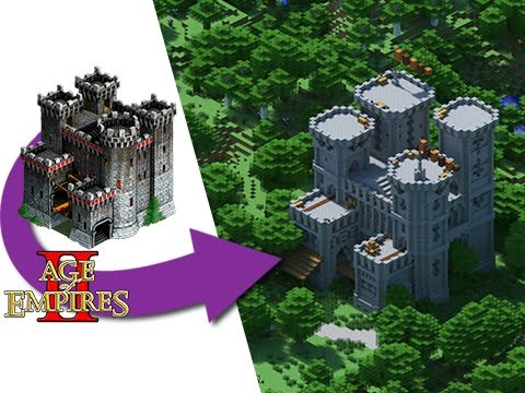 Minecraft - How To Build An AGE OF EMPIRES Castle!