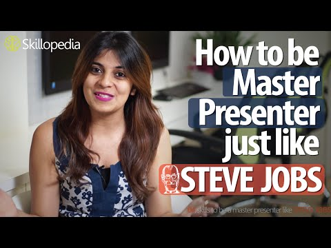 04 skills  to be a master presenter like Steve Jobs - Improve your Presentation Skills.