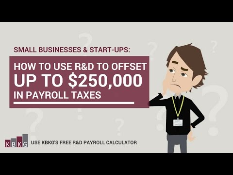 How to Use R&D Tax Credit to Offset Payroll Tax Credit