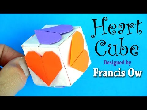 Origami Heart Cube by Francis Ow