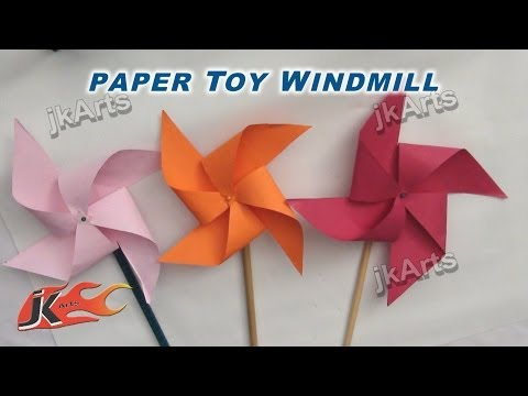 DIY How to make Paper Toy Pinwheel | Easy craft for kids | JK Arts 256