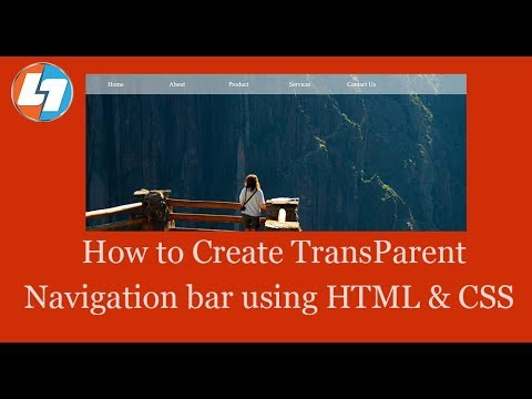 How to Create Transparent Navigation bar using HTML & CSS