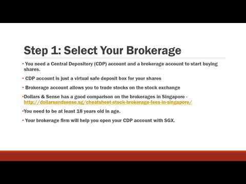 How To Start A Brokerage Account In Singapore (Class 9)