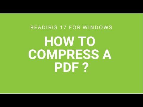 Readiris 17: Compress a PDF