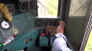 [IRFCA] Inside WDM2A Loco, Loco Pilot operating the Locomotive