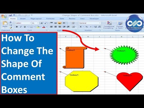 Excel Tricks : How To Change The Shape Of Comment Boxes In Excel | Insert Edit Comments| dptutorials