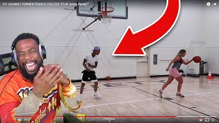 FLIGHT GOT MAD AFTER MISSING A WIDE OPEN LAYUP vs FEMALE COLLEGE STAR!
