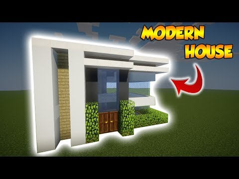 Minecraft: Small Modern House Tutorial  - How to build a Cool Modern House in Minecraft