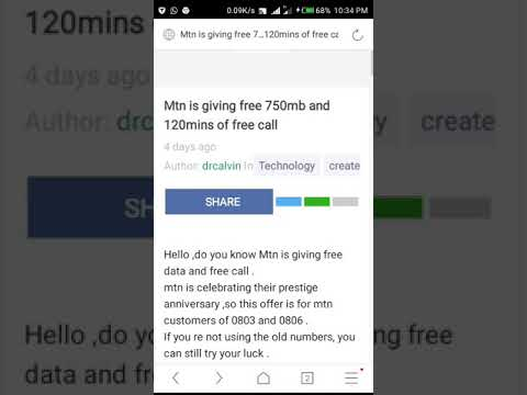 how to get Mtn free 750mb and 120mins of free call