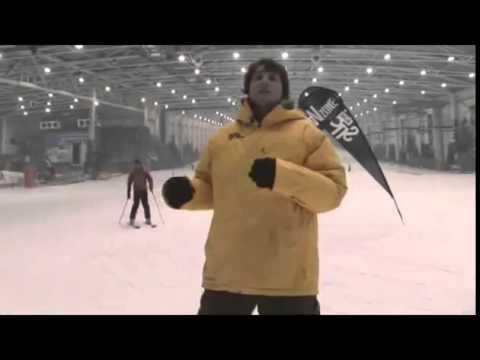 Primera bajada con la tabla de snowboard. Aprender snowboard