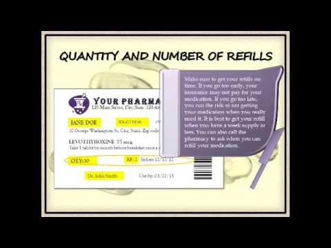 How to read your prescription label.
