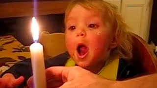 Funny Babies 😆 Funny Babies Blowing Candle and FAILS