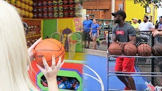 3 POINT CONTEST AT SIX FLAGS GONE WRONG...MY GIRLFRIEND WON! SHE ROASTED ME! 😖😖😖