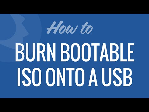 Burn Bootable ISO onto a USB