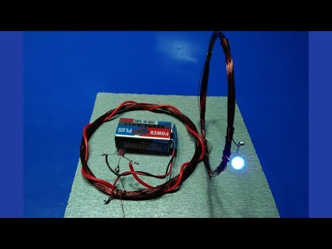 how to make wireless electricity transmission circuit homemade 100% working