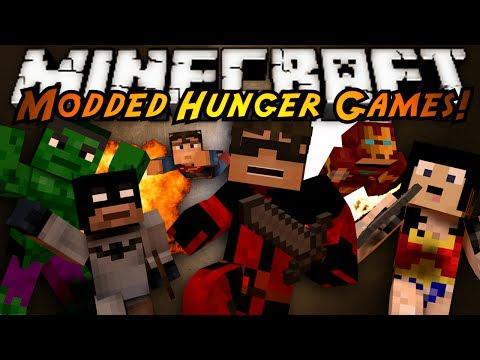 Minecraft MODDED HUNGER GAMES : SUPER HERO BRAWL!