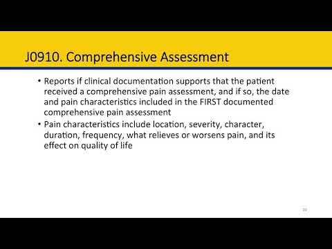 Module 4 Hospice Item Set: Section J, Pain