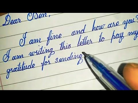 A letter of gratitude with cursive letters|| modern calligraphy|| CURSIVE WRITER