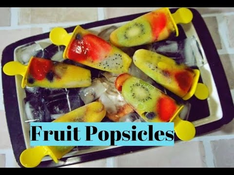 Fresh Fruit Popsicles  Healthy Ice Cream  No extra Sugar or Cream Recipe by Priyanka Rattawa