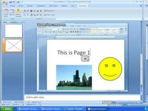 Word 2007 Tutorial 24 - Inserting YouTube Videos Into Word