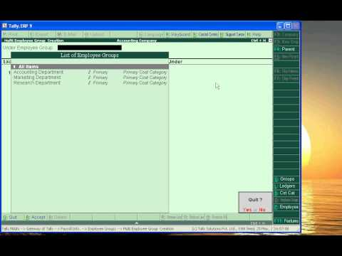 Payroll Accounting in Tally ( Tally.ERP 9 - Part 22 - Sub-part 1)