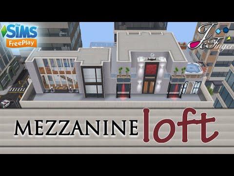 The Sims FreePlay 🏗 | MEZZANINE LOFT | 🏢 By Joy.