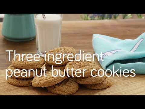 Three ingredient peanut butter cookies | Video recipe